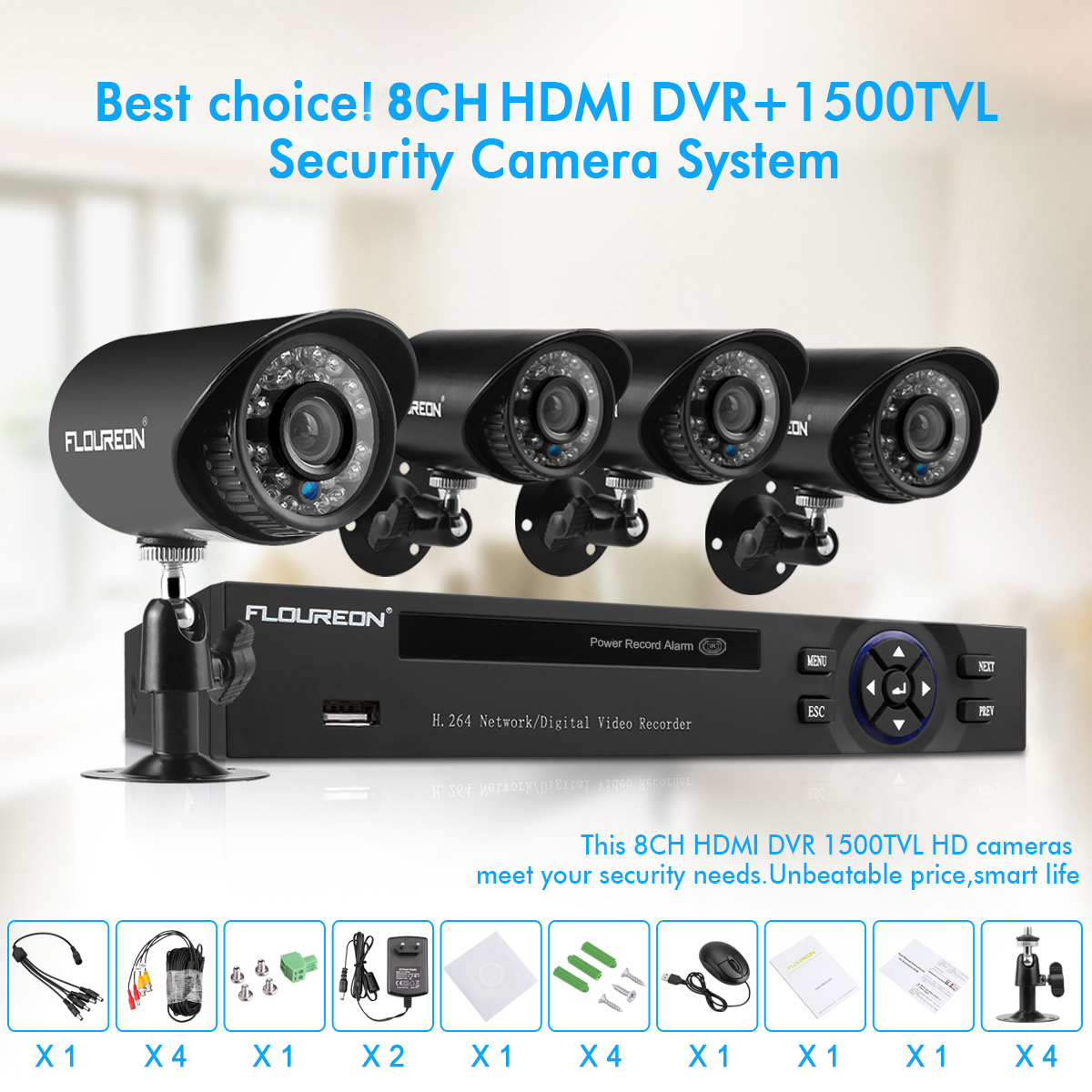 Details about Wired/Wireless 4CH 1080P NVR Outdoor 720P WiFI IR-CUT Camera  Security System US