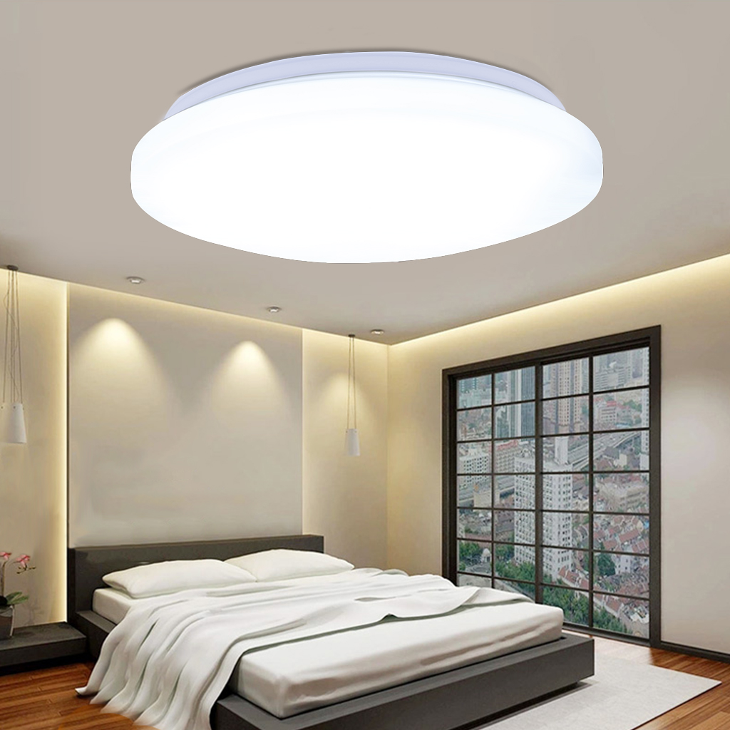 "24w Led Dimmable Ceiling Light Round Flush Mounted Fixture: 24W LED Ceiling Light 15.7"" Round Flush Mount Fixture"
