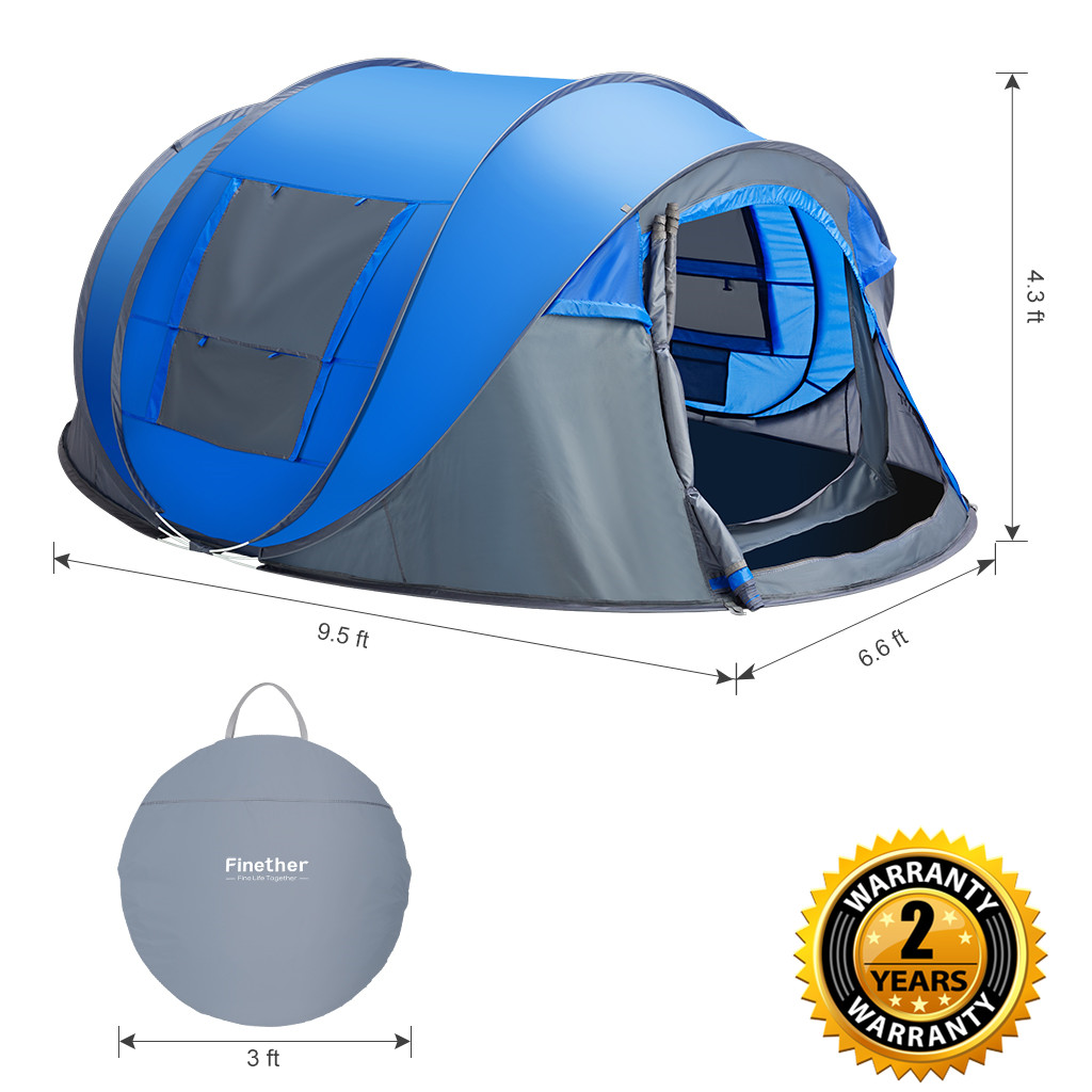 4 5 Person Water Resistant Instant Pop Up Tent Family