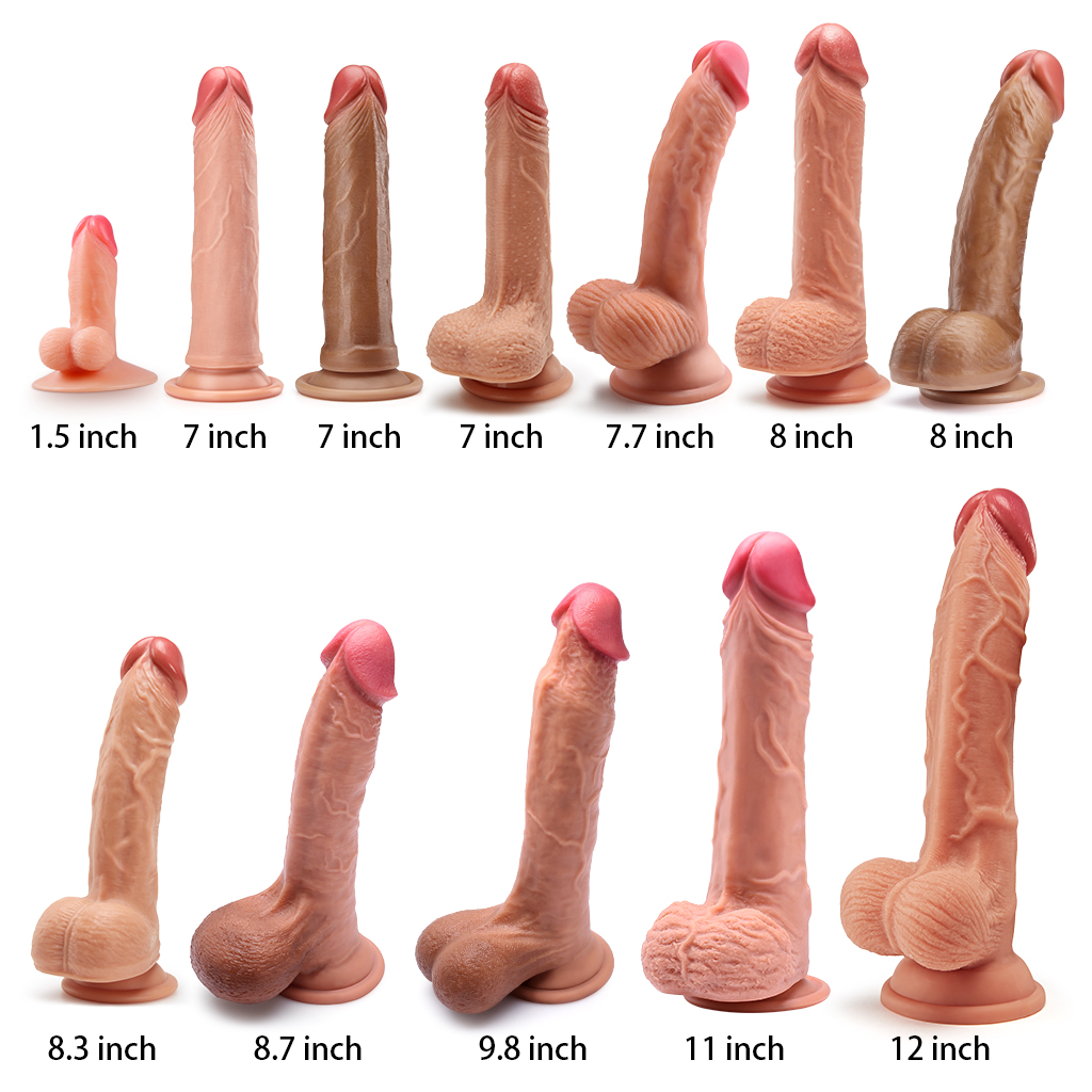 Luvkis 7 12 Dual Layer Realistic Dildo Huge Cock Dong Sex Toy