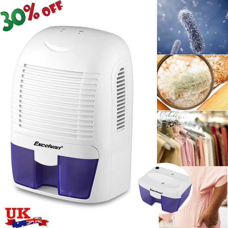 Mini Portable Dehumidifier Home Air Dryer Moisture Absorber Low Noise Cabinet UK